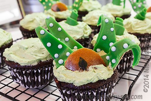 Swamp Monster Cupcakes