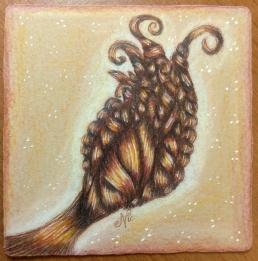 Brown ink, Tan paper
